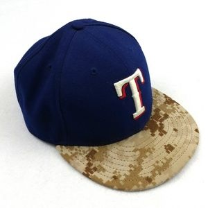 Texas Rangers Digi Camo New Era MLB Hat Sz 7.5